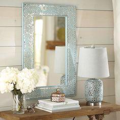 Mosaic Mirror - Aqua | Pier 1 Imports
