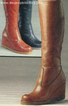 1978 Wedge Boots -- we thought these were so cool in high school, especially with a long pleated wool skirt and a peter pan collared blouse with a little string bow tie....does that bring back memories?