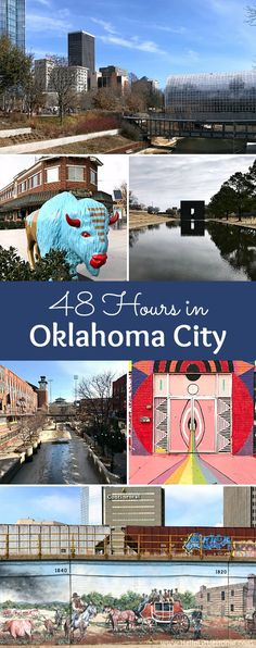 Things to Do in Oklahoma City! 48 Hours in Oklahoma City travel guide! Take a tour of this fun, walkable city . you won't believe all the things to do in Oklahoma City! Oh The Places You'll Go, Places To Travel, Travel Destinations, Oaklahoma City, Vacation Trips, Day Trips, Vacation Ideas, Oklahoma City Things To Do, Walkable City
