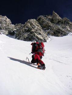 Alpinist Gerlinde Kaltenbrunner climbing Shishapangma Photograph by Ralf Dujmovits