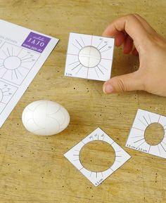 Kreise auf Ostereier zeichnen