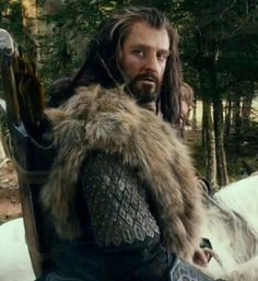 Thorin with his fur.