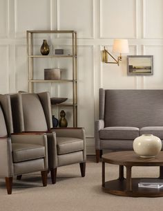 Superior H Contract Furniture   Layne Seating Shown With Studio 7H Table And  Bookshelf From Hooker Furniture