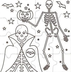 Colorings and handicrafts on a Halloween theme. Decorations, puzzles and coloring pages for kids to enjoy at Halloween Detailed Coloring Pages, Coloring Pages For Kids, Coloring Sheets, Holidays Halloween, Halloween Kids, Halloween Themes, Halloween Coloring Pages, Christmas Coloring Pages, Halloween Puzzles