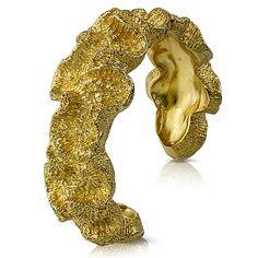 Shell-inspired Jewelry: Gogo Ferguson Vermeil Coral Cuff Bracelet | CoastalLiving.com