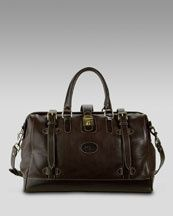 I love this Cole Haan Frame-Top Leather Duffel Bag, Brown (via Shop It To Me)