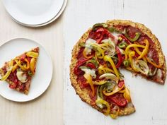 Pizza with Cauliflower Crust. Better than prepping your own cauliflower, buy the ready-made riced cauliflower and fajita-ready onions and peppers all frozen at Trader Joe's. Makes this recipe an easy weeknight dinner you can throw together in 30 minutes or less.
