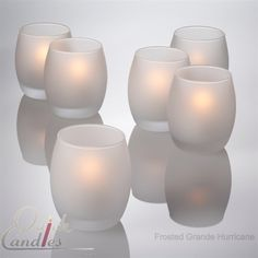 Hurricane Candle Holder | Votive Candle Holder | Frosted Glass Holders