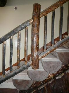 log staircase - ski house