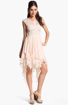 for Irina's bridesmaids...whatcha think?  En Crème Cap Sleeve Corkscrew Dress (Juniors) available at #Nordstrom