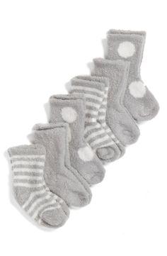 Main Image - Little Giraffe Box of Socks™ 6-Pack Set (Baby Girls)