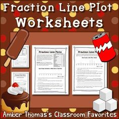 These two worksheets use contexts that fourth graders are likely to be familiar with when it comes to measurement units and fractional parts. The types of questions vary between reading a line plot, creating a line plot with given data, subtracting fractions with like denominators, and justifying their answers. For CCSS Math 4.MD.B.4