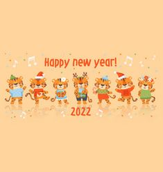 New Year Symbols, Seasons Activities, Cute Tigers, Web Design, Graphic Design, Yearly Calendar, Happy New Year, Work On Yourself, Vector Free