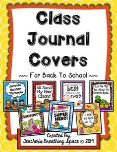 Whole Class Writing Journal Covers for Back To School