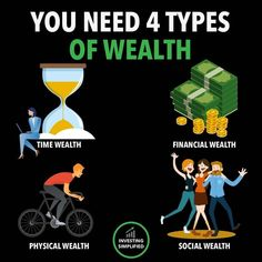 4 Types of Wealth - Glück - Business Money, Online Business, Life Skills, Life Lessons, 6 Sigma, Do It Yourself Furniture, Life Quotes Love, Wisdom Quotes, Quotes Quotes