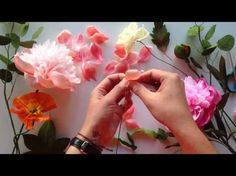 How to make a paper rose - YouTube