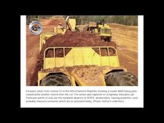 Classic Machines: Allis-Chalmers TS-460 scraper Twin Disc, Six Speed, Cedar Rapids, Classic, Activities, Tube, Construction, Cats, Heavy Machinery