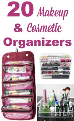20 makeup and cosmetic organizers for all types of beauty products, for both big and small collections #ad