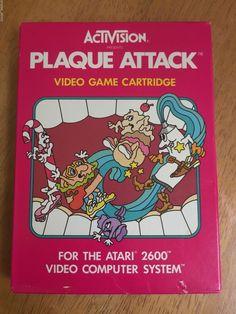 Plaque Attack (Atari 2600, 1982) Boxed Complete VCS Activision Rare! http://ebay.to/1IqOzEz