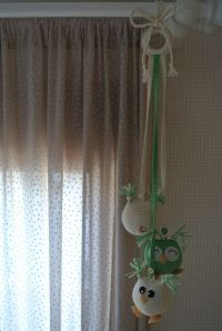 Curtains, Home Decor, Recipe, Owl Mobile, Amigurumi, Crocheting, Blinds, Decoration Home, Room Decor