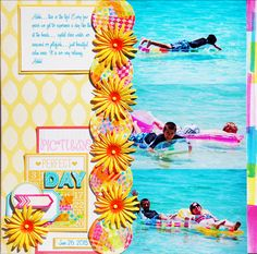 scrapbooking layout.....ocean pictures lined up
