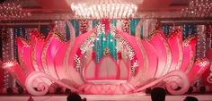 24 Gorgeous Wedding Stage Decoration Ideas & Themes That Will Leave You Speechless! 24 Gorgeous Wedding Stage Decoration Ideas & Themes That Will Leave You Speechless!This Wedding Season Let's Create Magic With Dazzling Wedding Hall Decorations, Wedding Reception Backdrop, Marriage Decoration, Wedding Mandap, Wedding Themes, Indian Wedding Stage, Indian Wedding Receptions, Wedding Stage Design, Diy Backdrop