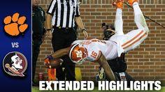GAME 8: Florida State [#12] vs. Clemson [#3] | 2016 ACC Football Highlights [Tallahassee, FL] | Oct. 29, 2016 | FSU-34 Clemson-37