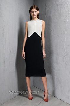 Строгие прямые линии и сдержанная цветовая гамма - так можно охарактеризовать новую коллекцию женской одежды Narciso Rodriguez pre-fall 2013.