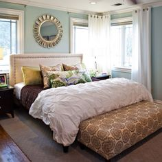 Beach inspired bedroom.
