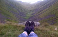 """""""Glad you like #ShoesWithViews @WhoseShoes - today top of High Cup Nick with Eden Valley in the distance #Cumbria"""" - Thanks Andrea!"""