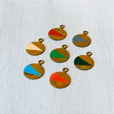 Son of a Sailor, hand painted brass pendants