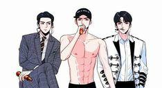 Cre: the owner/as logo Exo Anime, Anime Guys, Sehun, Namjin, Exo Fan Art, Kpop Drawings, Kpop Fanart, Boy Art, People Art