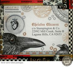 Michelle ward, package label. Michelle is so very talented!  Been a fan of her work for years!