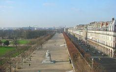 Le Jardin des Tuileries et la Rue de Rivoli en hiver   Flickr - Photo Sharing!
