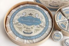 Marcelle Aimée Brie Cheese on Packaging Design Served