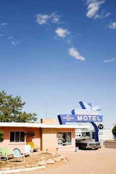 Spend the night at the adorable Blue Swallow Motel in Tucumcari, New Mexico along historic Route 66 for your next road trip vacation! // saltycanary.com