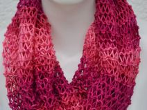 Loop Schlauchschal Schal meliert pink rosa