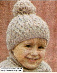 Des bonnets  Bonnet enfant tricoté au point d alvéoles Bonnet Enfant,  Tricot Enfant 3474c4658de