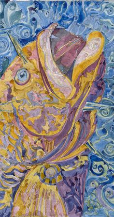 Fish Art Watercolor Painting ,Ocean decor, Sea art, Fish Wall art, Fish print, Underwater art, fish Poster, ocean print, nautical nursery  Fish-3 This is a print of my original watercolor mix media painting. It is the work of a watercolor series In search of Atlantis   Size paper: 21 cm x 29,7 cm, 8 1/4 x 11 5/8, A4.(with white borders) - 18.00 $  fit in frames found in big shops 8x10(20cmx25cm) - leaving extra for matting - US  8x12(20cmx30cm) - leaving extra for matting - EU   29,...