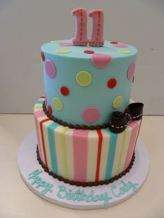 Cool Birthday Cakes Colorful Happy Birthday Cake Design YUM - 11th birthday cake ideas