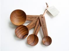 Teak Measuring Spoons