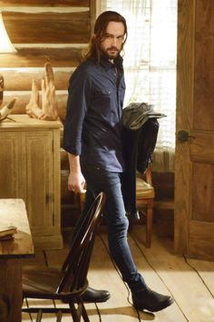 Ichabod does not like wearing skinny jeans.  Of course, we DO like his wearing skinny jeans!  ;-)