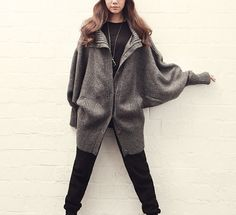 grey cape Coat spring coat winter coat Autumn by colorstore2011, $72.99