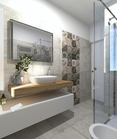 The bathroom is an essential part of the house, where it is good to take care of yourself and relax to fill with serenity. Discover our instructions for a Zen bathroom with our 8 decorating ideas: you have beautiful hours… Continue Reading → Zen Bathroom, Modern Bathroom, Small Bathroom, 3d Tiles Bathroom, Bathroom Ideas, Neutral Bathroom, Kitchen Tiles, Bathroom Styling, Bathroom Interior Design