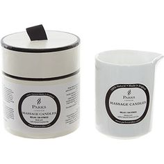 White Massage Scented Candle