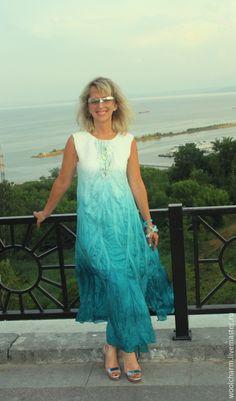 Платья ручной работы. Платье валяное Сон белой чайки. Юлия Блохина           (Wool charm). Ярмарка Мастеров. Длинное платье