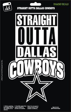 Straight Outta Dallas Cowboys NFL Football Logo Decal Vinyl Sticker Car Truck Window Laptop by DiamondDecalz on Ebay