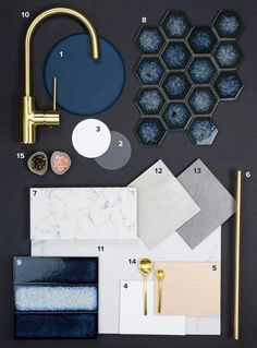 67 new ideas for bath room inspiration tiles color schemes Navy Bathroom, Bathroom Colors, Bathroom Ideas, Modern Bathroom, Kitchen Colour Schemes, Kitchen Colors, Interior Colour Schemes, Navy Kitchen, Kitchen Modern