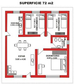 Smallest 2 br ive see 2 Bedroom House Plans, My House Plans, Small House Plans, House Floor Plans, House Floor Design, Small House Design, Modern House Design, Apartment Floor Plans, House Layouts