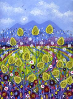 Yellow Teasels by David Newton